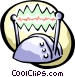 cartoon helmet with electrodes Vector Clip Art image