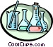 Science beakers Vector Clip Art image