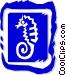 seahorse Vector Clip Art image