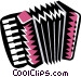 squeeze-box accordion Vector Clip Art image