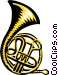 French horn Vector Clipart image