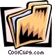 file folder Vector Clipart picture