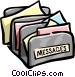 message sorter Vector Clip Art picture