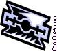 razor blade Vector Clip Art image