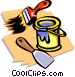 paint with brush Vector Clipart picture