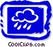 Rain and clouds Vector Clip Art picture