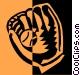 baseball glove Vector Clipart illustration