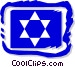 Star of David motif Vector Clipart image