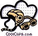 helmet and goggles Vector Clip Art picture