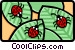 ladybugs Vector Clipart graphic
