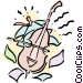 musician/bass Vector Clipart picture