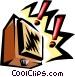 speaker Vector Clipart illustration