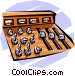 Control board Vector Clipart graphic