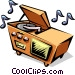 50's style home stereo system Vector Clip Art graphic