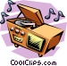 stereo Vector Clipart image