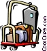hotel luggage cart Vector Clipart image