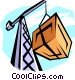 crane with cargo Vector Clip Art picture