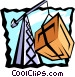 crane with cargo Vector Clipart graphic