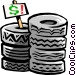 tires Vector Clipart graphic