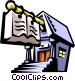 school or library architecture Vector Clip Art picture