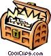 Treasure chest Vector Clipart graphic