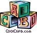 baby's blocks Vector Clip Art image