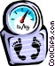 weight scale Vector Clipart picture