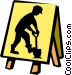 men working sign Vector Clipart image