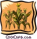 Corn field Vector Clipart picture