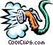 garden hose spraying Vector Clipart graphic