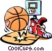 basketball Vector Clip Art graphic