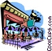 outdoor cafe Vector Clipart graphic