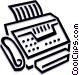 fax machine Vector Clip Art image