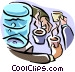 cooler/morning coffee Vector Clipart illustration
