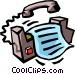 fax machine Vector Clip Art picture
