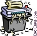 office paper shredder Vector Clipart picture