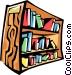 bookshelf Vector Clip Art image