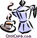 coffee pot Vector Clipart graphic