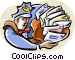 mailman Vector Clipart illustration