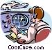 air traffic controller Vector Clipart illustration