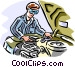 Automotive mechanic Vector Clip Art image