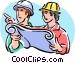construction foreman Vector Clipart illustration