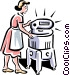 old-fashioned washing machine Vector Clip Art graphic
