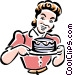 old-fashioned cake maker Vector Clipart picture
