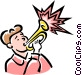 trumpet player Vector Clip Art picture