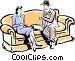 Couple having a conversation Vector Clip Art image