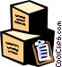 clipboard with shipping cases Vector Clipart picture