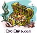 treasure chest Vector Clipart illustration