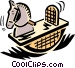 rocking horse Vector Clipart illustration