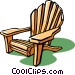 lounge chair or deck chair Vector Clipart graphic